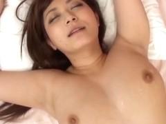 Japanese Av model is an alluring milf enjoying hot tit fuck