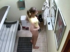 Czech Legal Age Teenager in Public Solarium