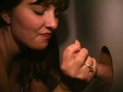 Gloryhole jizz addict in the adult cinema - snake
