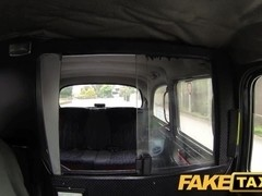 FakeTaxi: Red head with large natural meatballs trys for elementary money