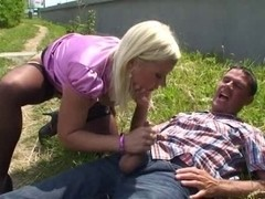 Blond fuck in public Serbian - German