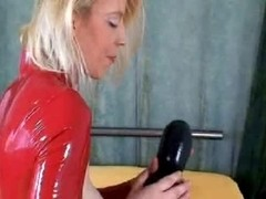 Hot blonde who craves for veiny dildos achieves orgasm