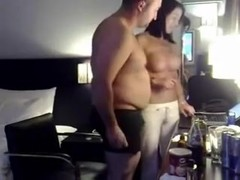 Amateur Busty Wife Rides Her Fat Husband