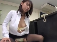 Pantyhose Miniskirt Secretary at Office 3of4 censored ctoan