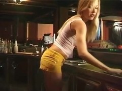 Blond Bartender gets fucked