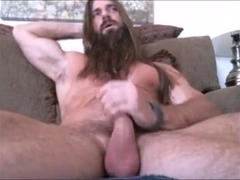 long bearded muscle guy solo #1