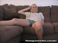 Sexy Body Golden-Haired Stacey Takes A Creampie