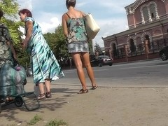 Fabulous street upskirt movie scene