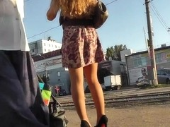 More attractive butt cheeks in upskirt oops videos