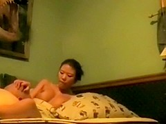 Hottest amateur record with asian, cunnilingus, big tits, couple scenes