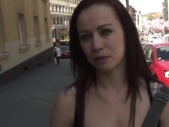 I pick up young curve Bianka in the street