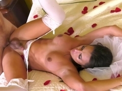 Connor Maguire & Chanel Santini in Here Cums the Bride - TransAngels