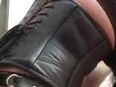 Busty kinky slut fucks her sissy slave