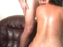 Hot and horny black haired slut fucking sexy young man