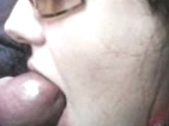 Lovely girlfriend sucking big cock in her boyfriend's car