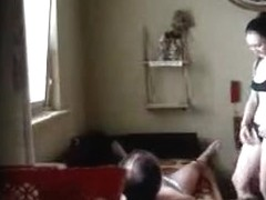 Amateur girl being perforated by her older lover