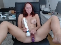 Sexy Redhead Teen Loves Toys In Her Holes