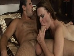 Whore blows large penis two