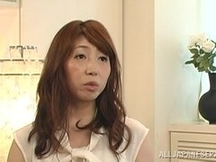 Mature Japanese housewife gets a hard fucking