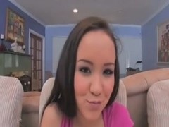 Asian angel acquires her anal virginity taken