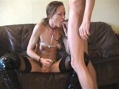 Perverted pair- wife thong-on bonks hubby