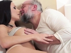 Busty Teen Stunner Banged By Lucky Grandpa