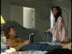 Sexy 3some with Asia Carrera in act with a excited pair