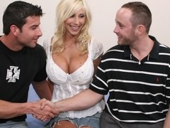 Sweet blonde Puma Swede sucks and fucks hard