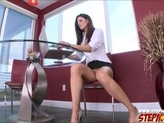 Teal Conrad busted stepmom India Summer sucking her bfs cock
