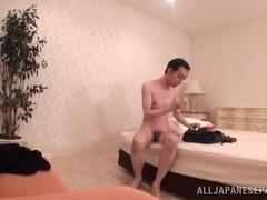 Busty Japanese milf enjoys a hard fucking sex date