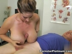 Dirty Nurse Eva Notty Tit Fuck and Ball-Bust