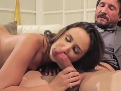 Kinky Ashley Adams smeared in cum after deep drilling