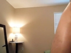 Dishy guy is jerking in his room and filming himself on web camera