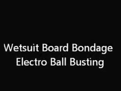 Wetsuit Board Servitude Electro Ball Busting