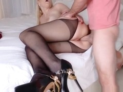 Teen stepsis cum covered