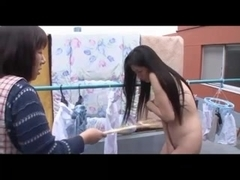 Busty wife next door quarrel husband out house naked. Part1