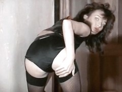 Hammer Horror - hairy vintage British stockings tease