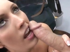 Milf with hot big boobs taking part in dick sucking xxx action