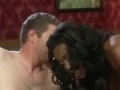 Ebony domina fucks her hubby and gets nailed hard
