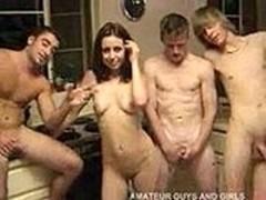 HOT HOMEMADE GROUP FUCK