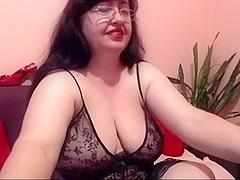 Bare older on webcam