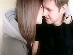 Super Hawt Dark Brown Sucks Her Boyfriend's Pecker on Livecam