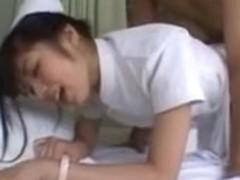 Nurse Yuu Asakura copulates then takes a giant load of cum