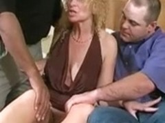 mature blonde slag threesome mmf