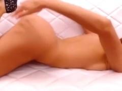 Hawt playgirl teasing with her hawt body