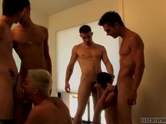 A Cock Sucking Orgy Of Jizz - Austin, Jayden, Kelly, Mike, Phillip, Rad, Ryan An - TeachTwinks