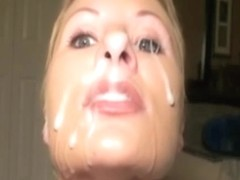 She loves to play with warm sperm on camera