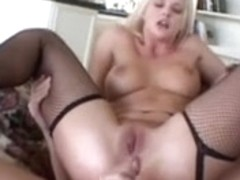 delicious juvenile Golden-Haired receives anal and mouthfull of cum