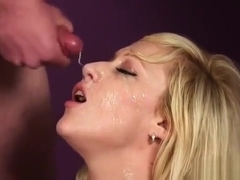 Naughty Beauty Gets Cumshot On Her Face Gulping All The Ejac