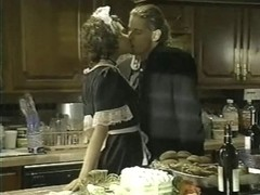 French maid fucked in the kitchen